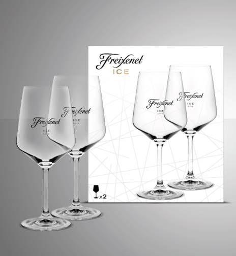 Freixenet Ice Glasses Pair