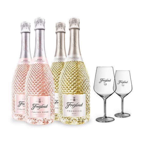 Freixenet Sparkling Promotion - 8 Bottles + 4 Free Glasses!