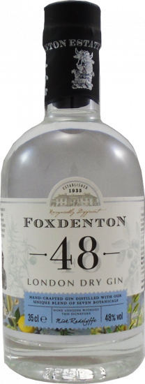 Foxdenton Original 48 London Dry Gin Half Bottle